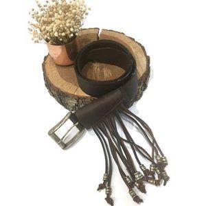 • Nieman Marcus• Roman style belt with fringes